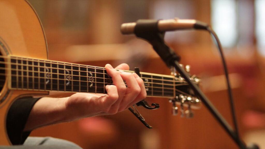 Запись акустической гитары через микрофон