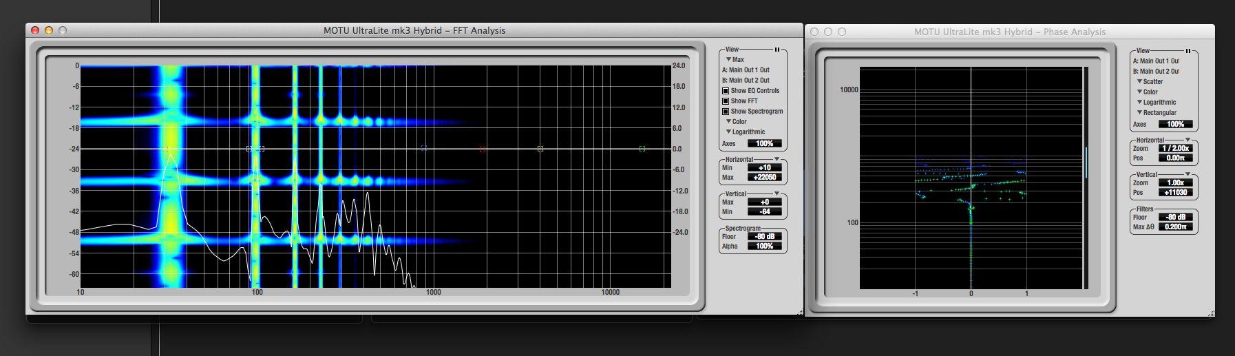 Результаты активации всей цепочки эффектов, состоящей из басового синтезатора, эффекта хоруса и эквалайзера в режиме Side Only.