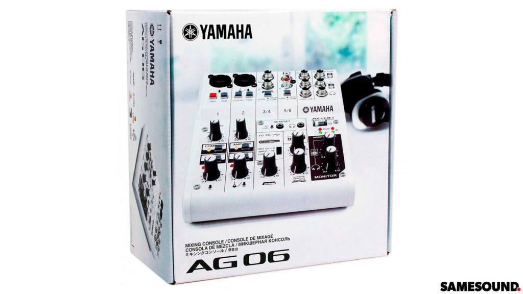 Обзор Yamaha AG06, обзор