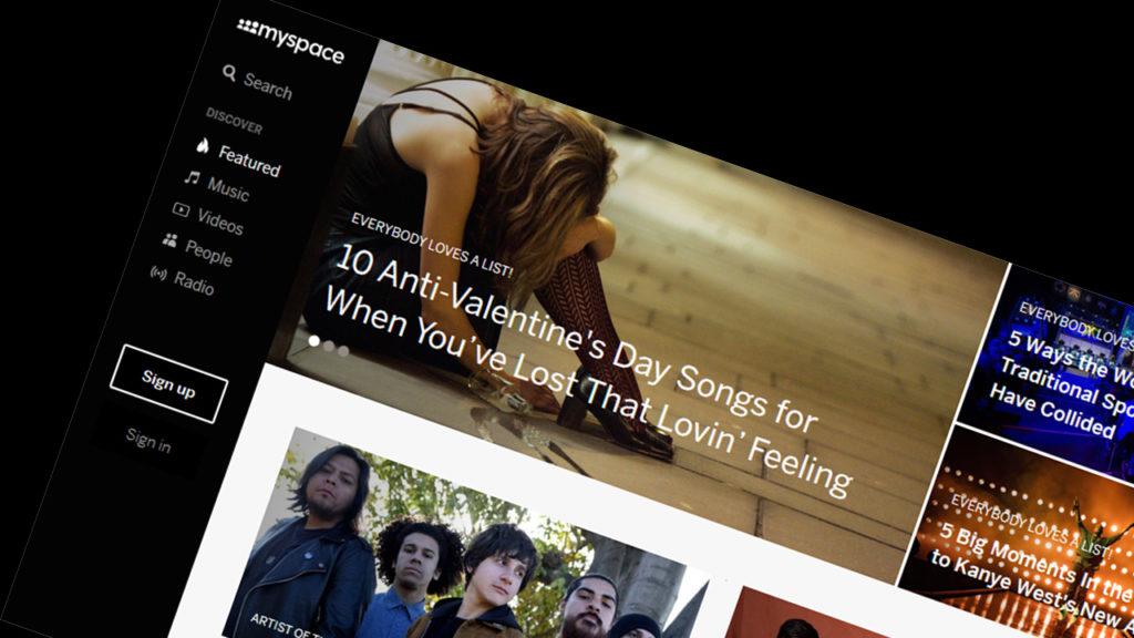 История MySpace