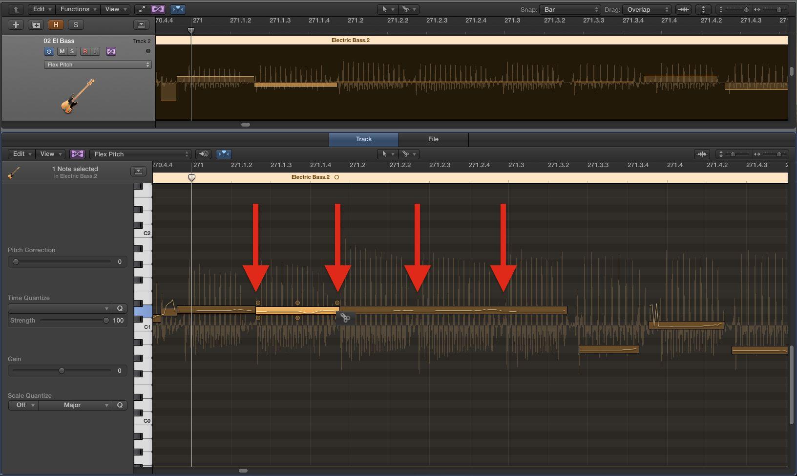 Audio-to-MIDI в Logic Pro X