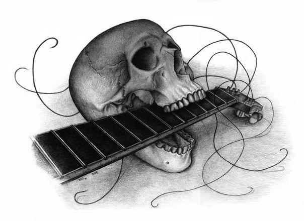 Примеры татуировок на тему музыки