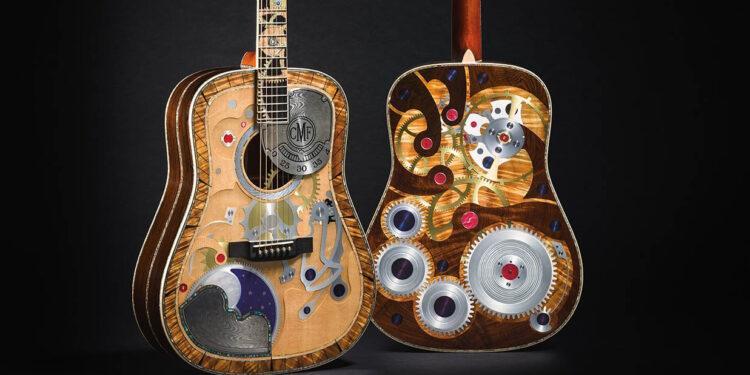 Martin 2 Millionth Guitar и Martin D-200 Deluxe, гитара со встроенными часами