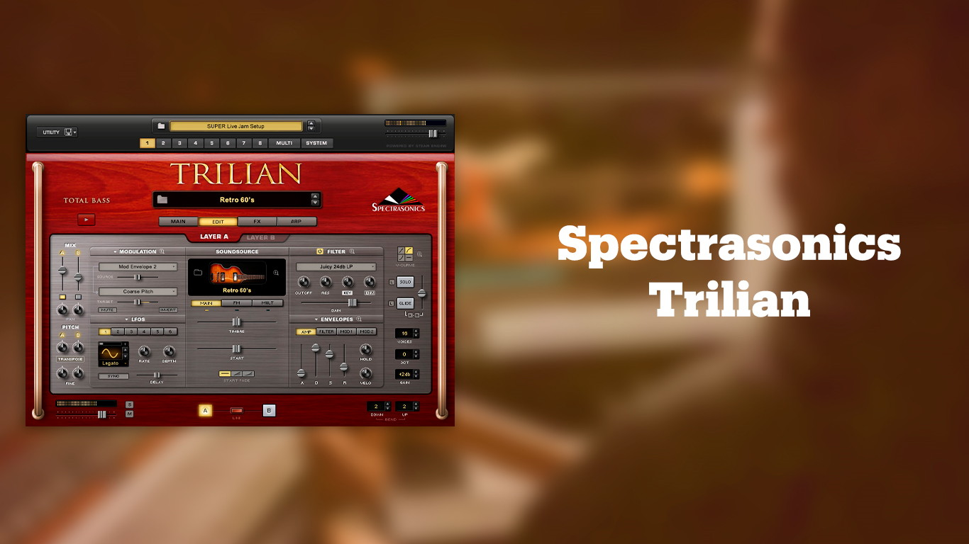 Лучшие VST бас-гитары Spectrasonics Trilian