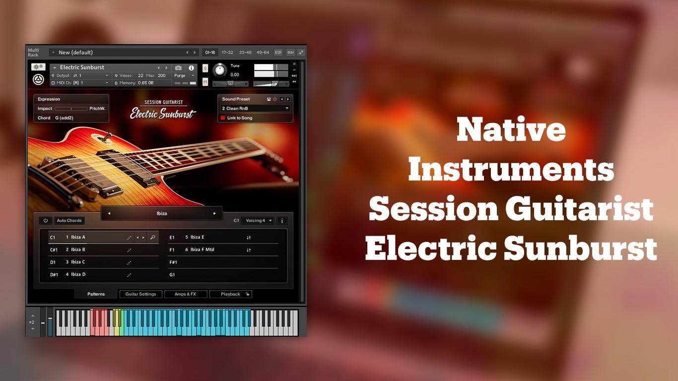 Лучшие VST-электрогитары Native Instruments Session Guitarist Electric Sunburst