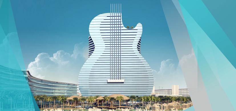 Отель в виде гитары Hard Rock Hotel