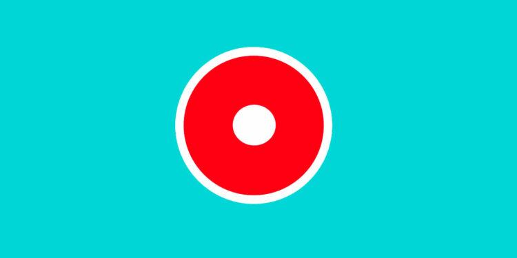 Почему кнопка записи красная и круглая.