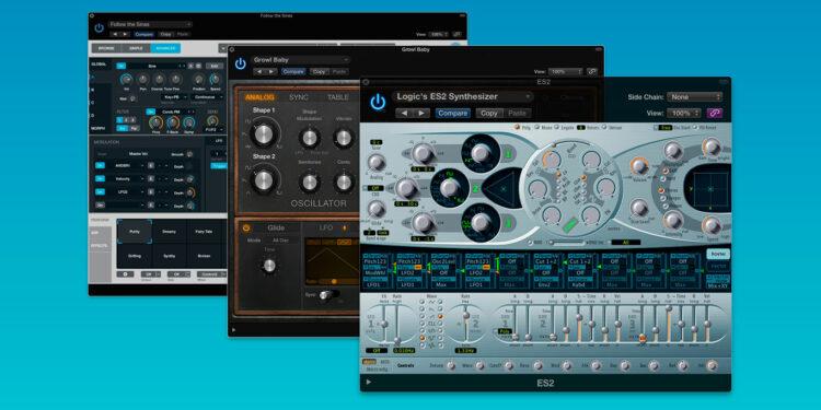 синтезаторы в logic pro x, синтезаторы logic pro x