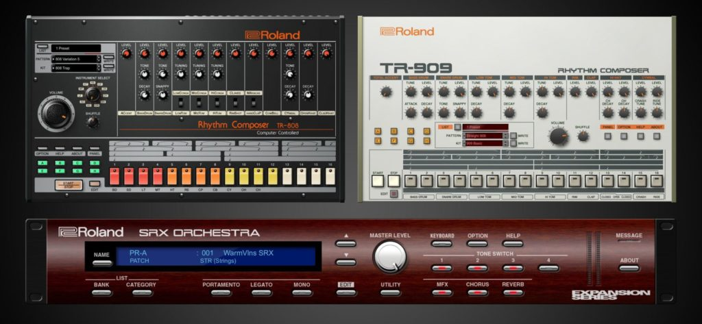 VST-версии драм-машин Roland TR-808 и Roland TR-909