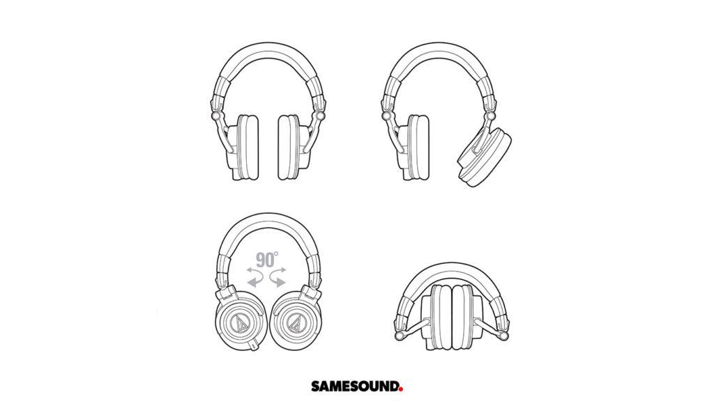 Audio-Technica ATH-M50xBB, синие ATH-M50, синие Audio-Technica ATH-M50x