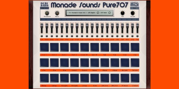 Monade Sounds Pure707, сэмплы Roland TR-707