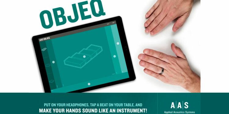 Приложение AAS Objeq, приложение превращает стук пальцев в звуки перкуссии