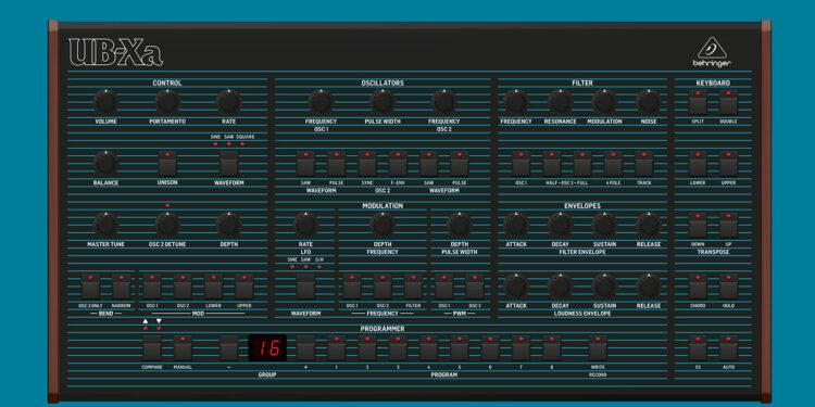 Синтезатор Behringer UB-Xa, клон Oberheim OB-Xa от Behringer