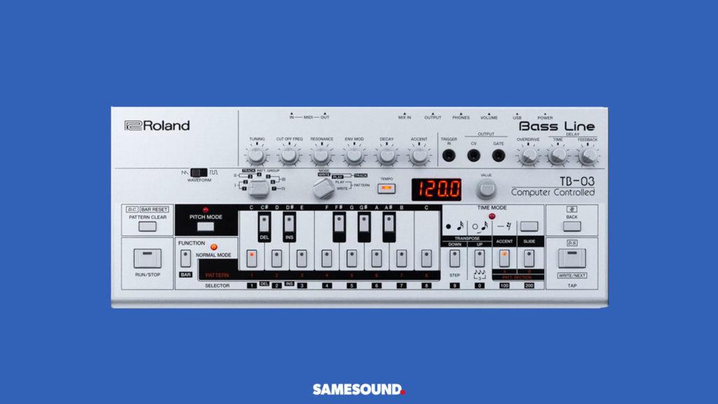 Roland TB-03, лучшие синтезаторы для начинающих