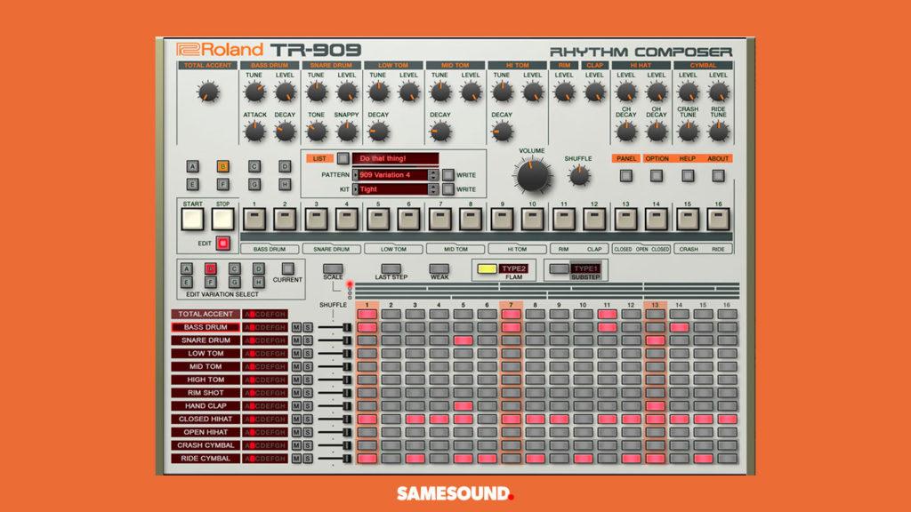 VST-плагин Roland TR-909