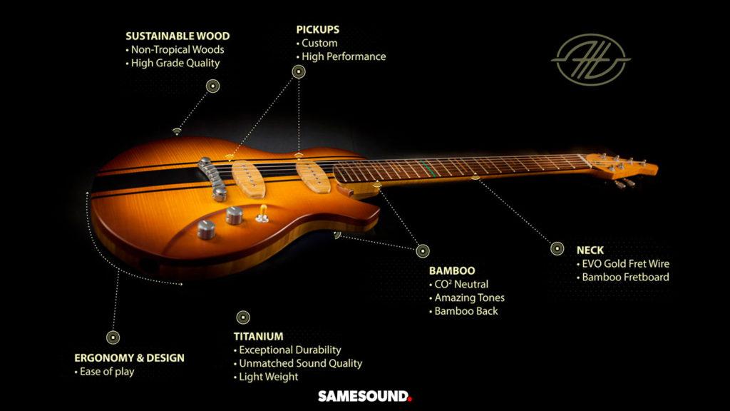 Бамбуковая гитара Cosmic One