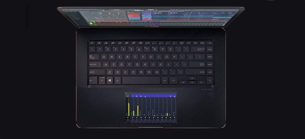 ASUS ZenBook Pro UX580, ноутбук с сенсорным экраном вместо тачпада