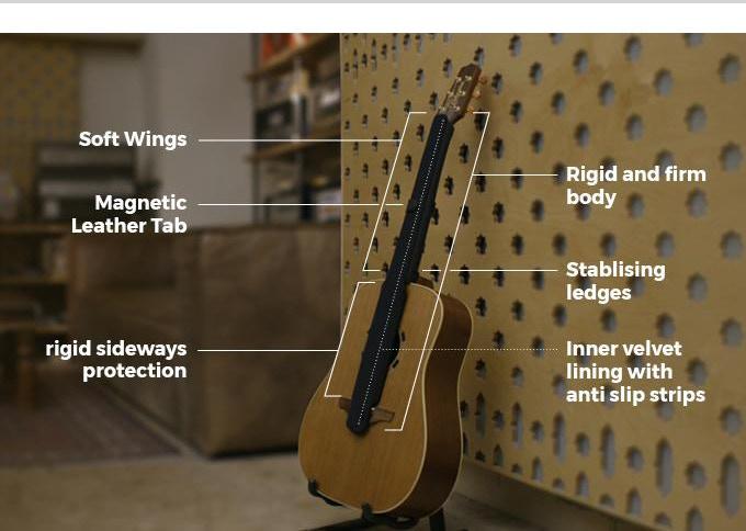 Чехол для гитары G-Suit, чехол для защиты струн и грифа гитары G-Suit