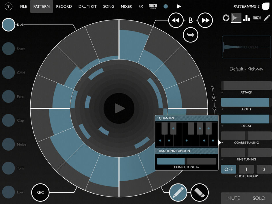 Драм-машина для iPad Olympia Noise CoPattering 2