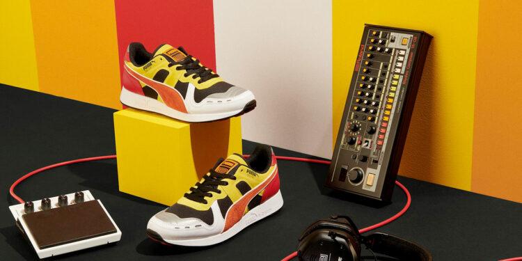 кроссовки в стиле драм-машины TR-808, PUMA RS-100, PUMA RS-0, коллаборация PUMA и Roland, кроссовки PUMA Roland, кроссовки puma rs-100 roland
