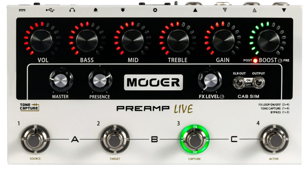 Предусилитель преамп Mooer Preamp Live