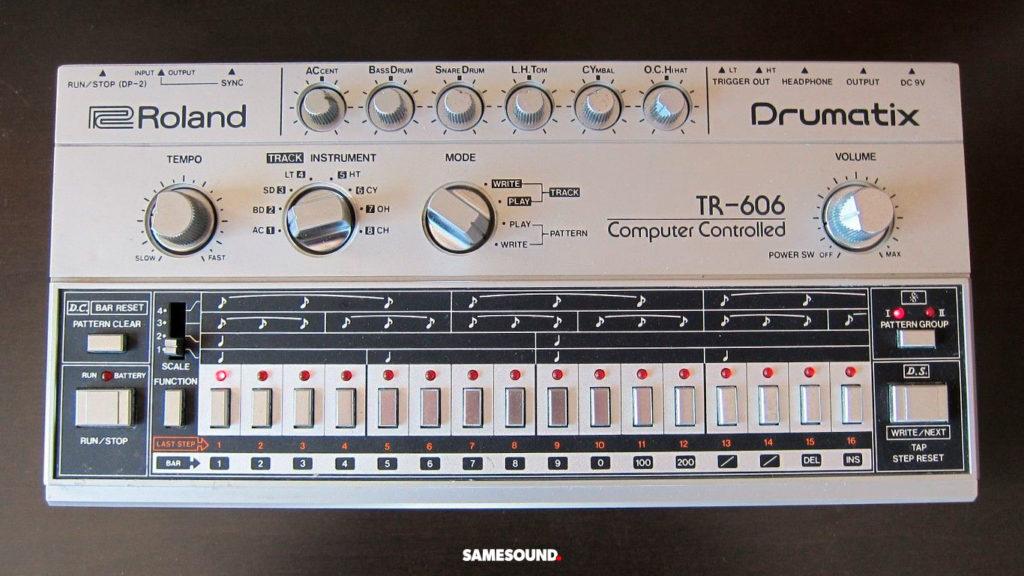 винтажные драм-машины Roland, Roland TR-606