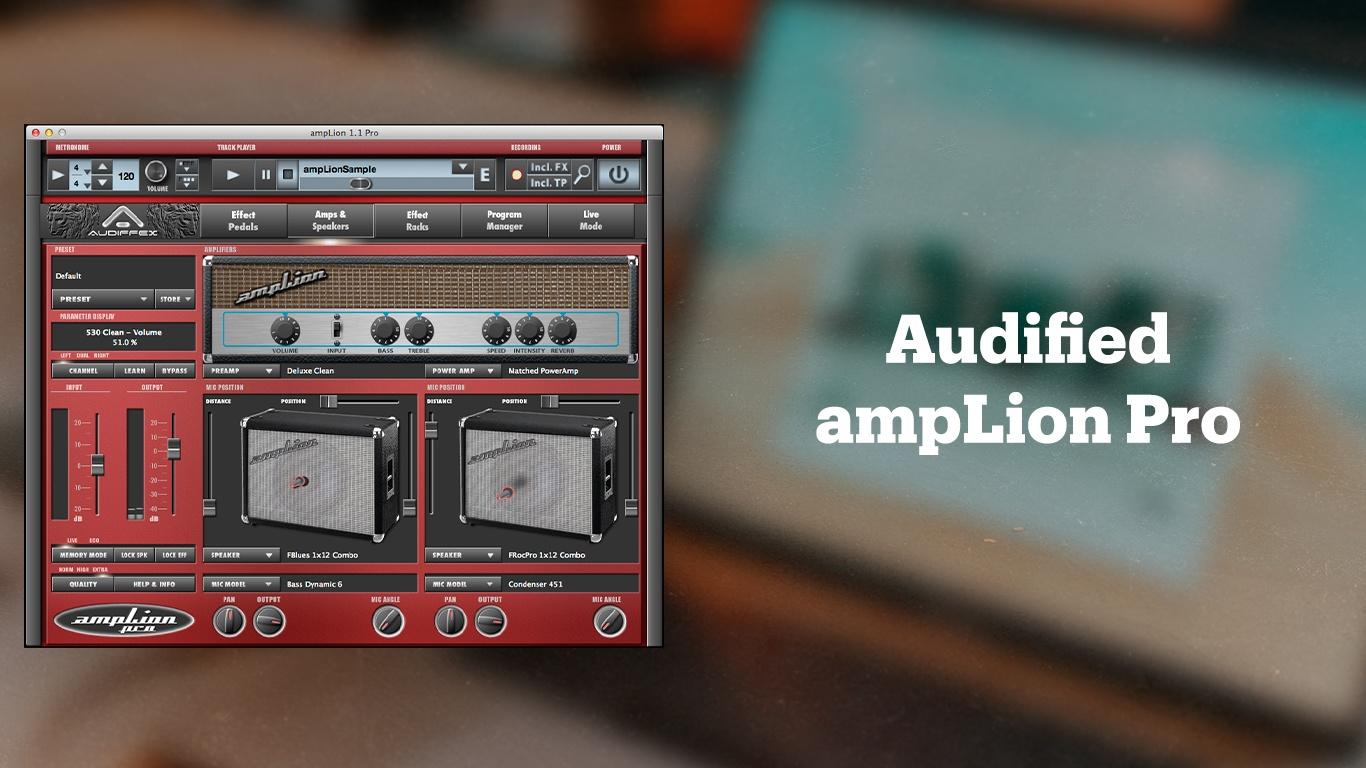 Лучшие плагины для обработки гитары, Audified ampLion Pro
