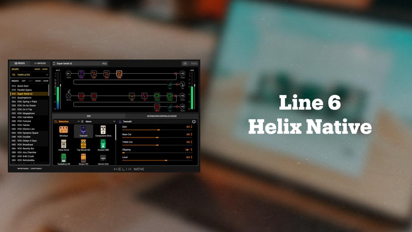 Гитарный эмулятор Line 6 Helix Native