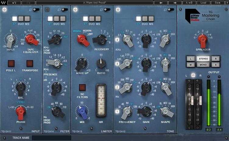 VST-плагин Waves Abbey Road TGMastering Chain