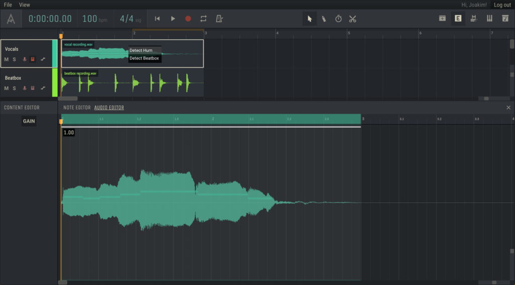 Браузерная DAW Amped Studio 2.0