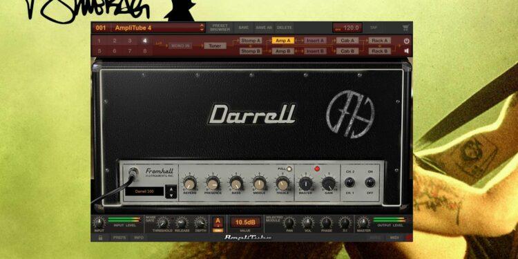 Дополнение AmpliTube 4 Dimebag Darrell CFH Collection с пресетами Pantera с альбома Cowboys From Hell
