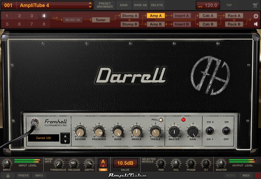 Дополнение AmpliTube 4 Dimebag Darrell CFH Collection с пресетами Pantera с альбома Cowboys From Hell