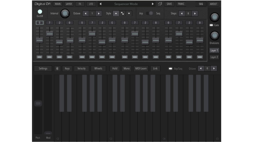 iOS-синтезатор AudioKit Digital D1 Synth