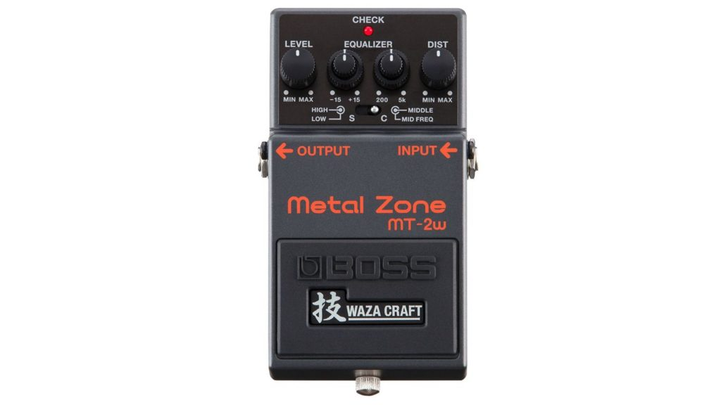 Педаль дисторшн BOSS Metal Zone MT-2W, BOSS Metal Zone Waza MT-2W
