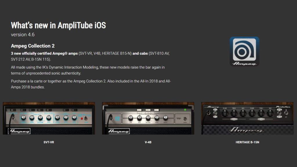 AmpliTube Ampeg Collection 2, IK Multimedia AmpliTube Ampeg Collection 2