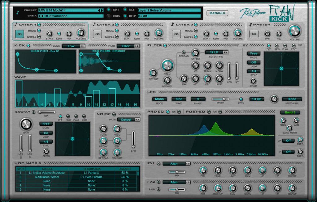 Кик-синтезатор Rob Papen Raw-Kick
