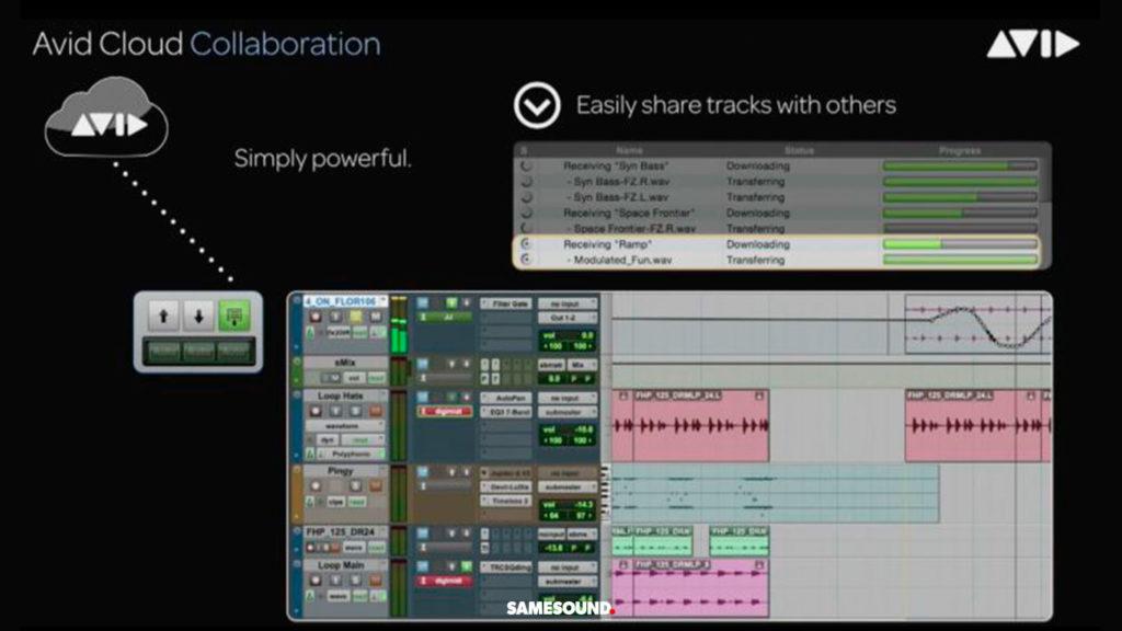 приложения для совместной работы над музыкой, avid cloud collaboration