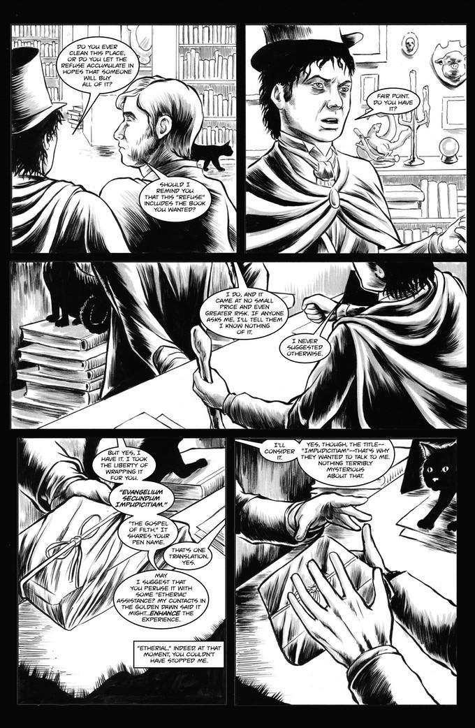 Комикс о Cradle of Filth, комиксы о музыкальных группах