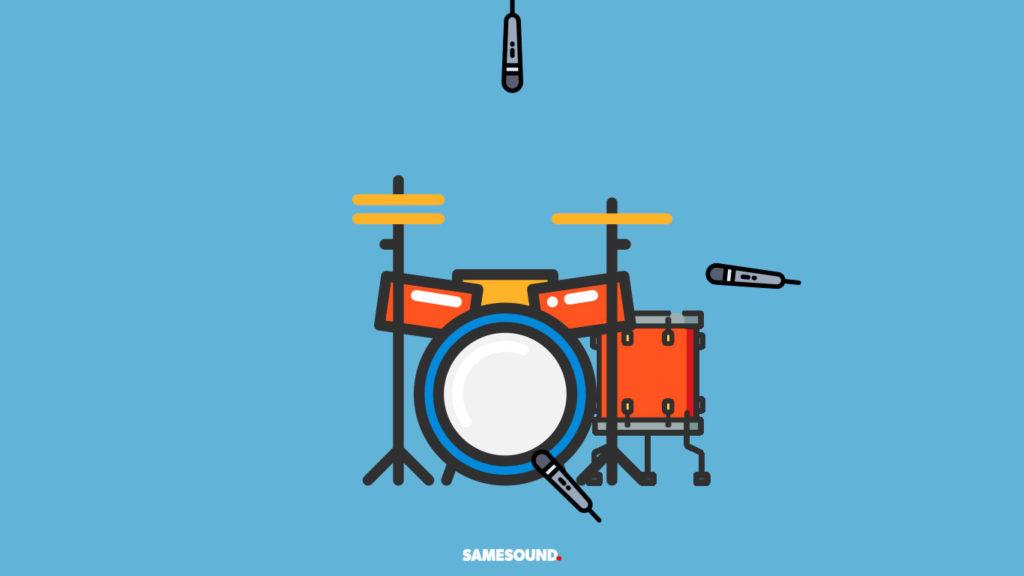 Метод Глина Джонса: запись ударных несколькими микрофонами