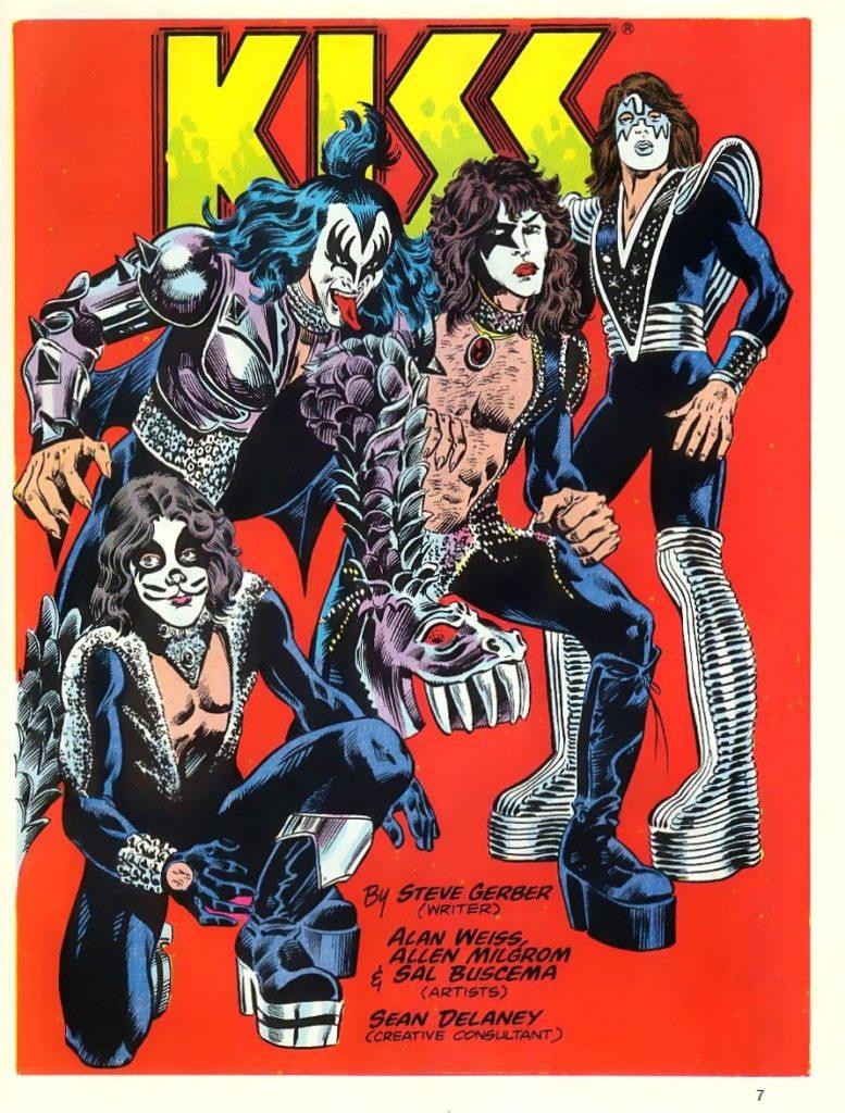 Комикс о KISS от Marvel, комиксы о музыкальных группах
