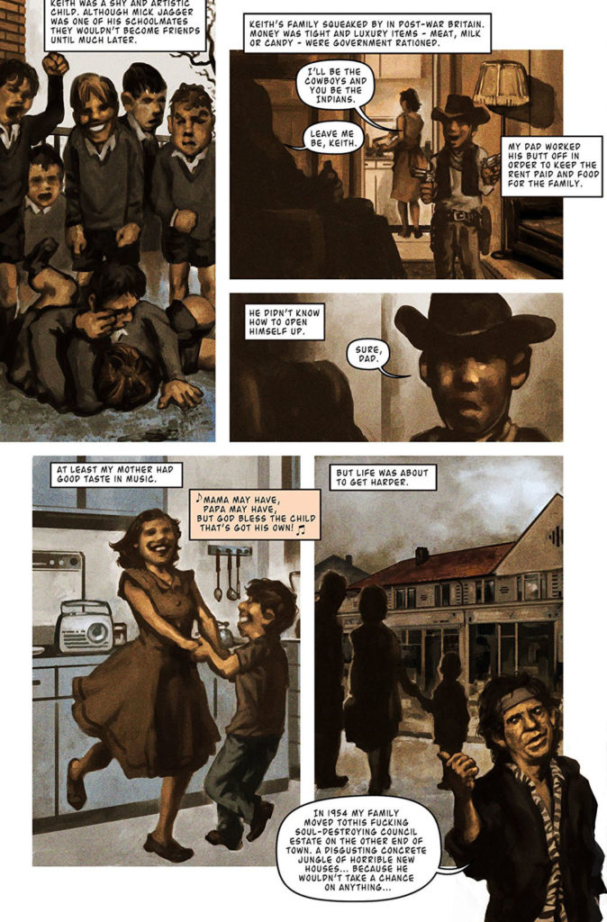 Комикс о Ките Ричардсе, комикс Orbit Keith Richards, комиксы о музыкальных группах