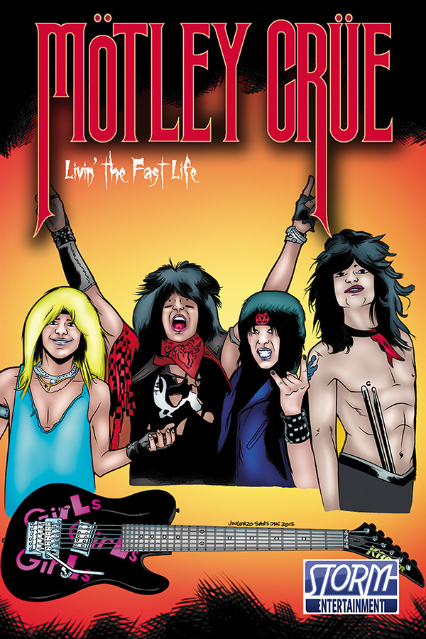 Комикс о Motley Crue, комиксы о музыкальных группах