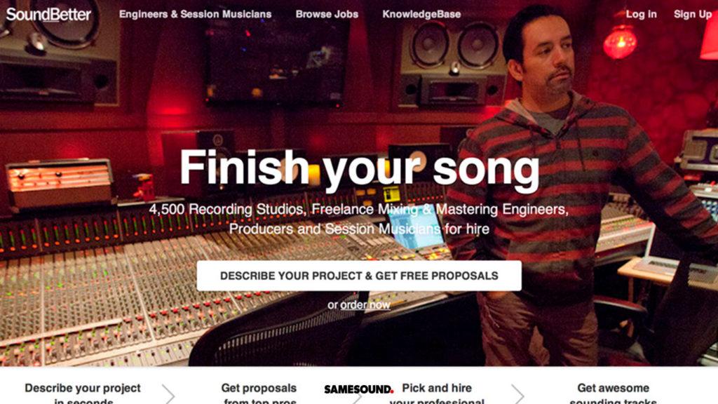 приложения для совместной работы над музыкой, soundbetter