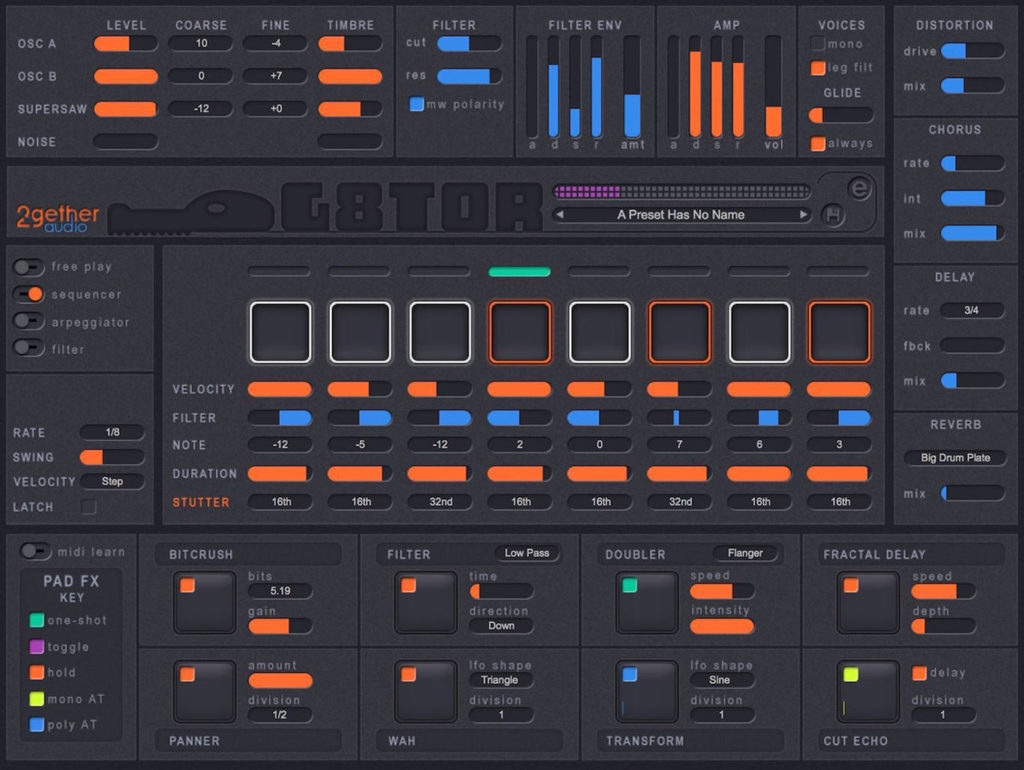 Синтезатор 2getheraudio G8TOR