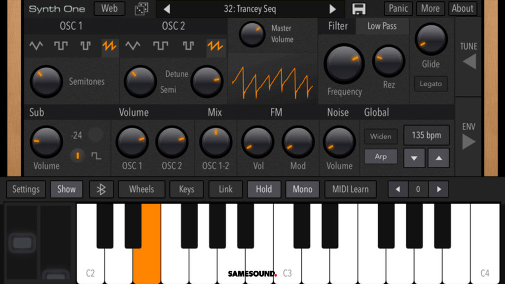 AudioKit Synth One для iPhone