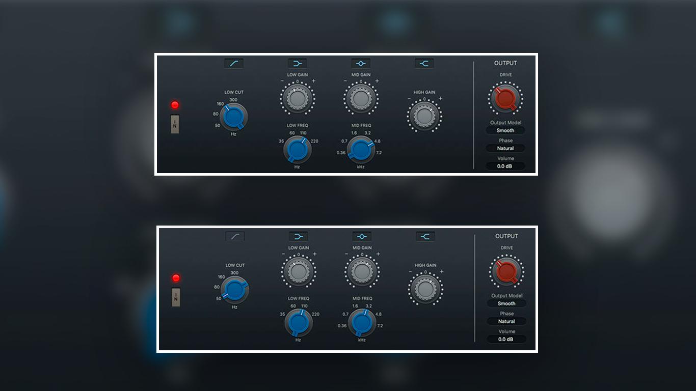 Эквализация верхнего и нижнего регистра MIDI-пианино