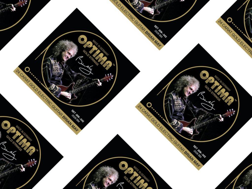Optima Gold Brian May Signature, лучшие струны для электрогитары