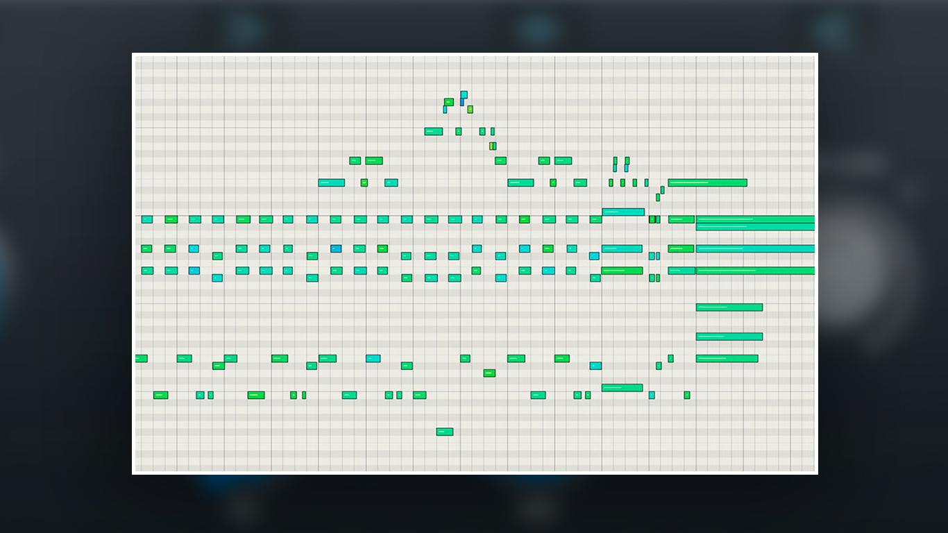 Программирование клавишных и фортепиано в MIDI исходный регион
