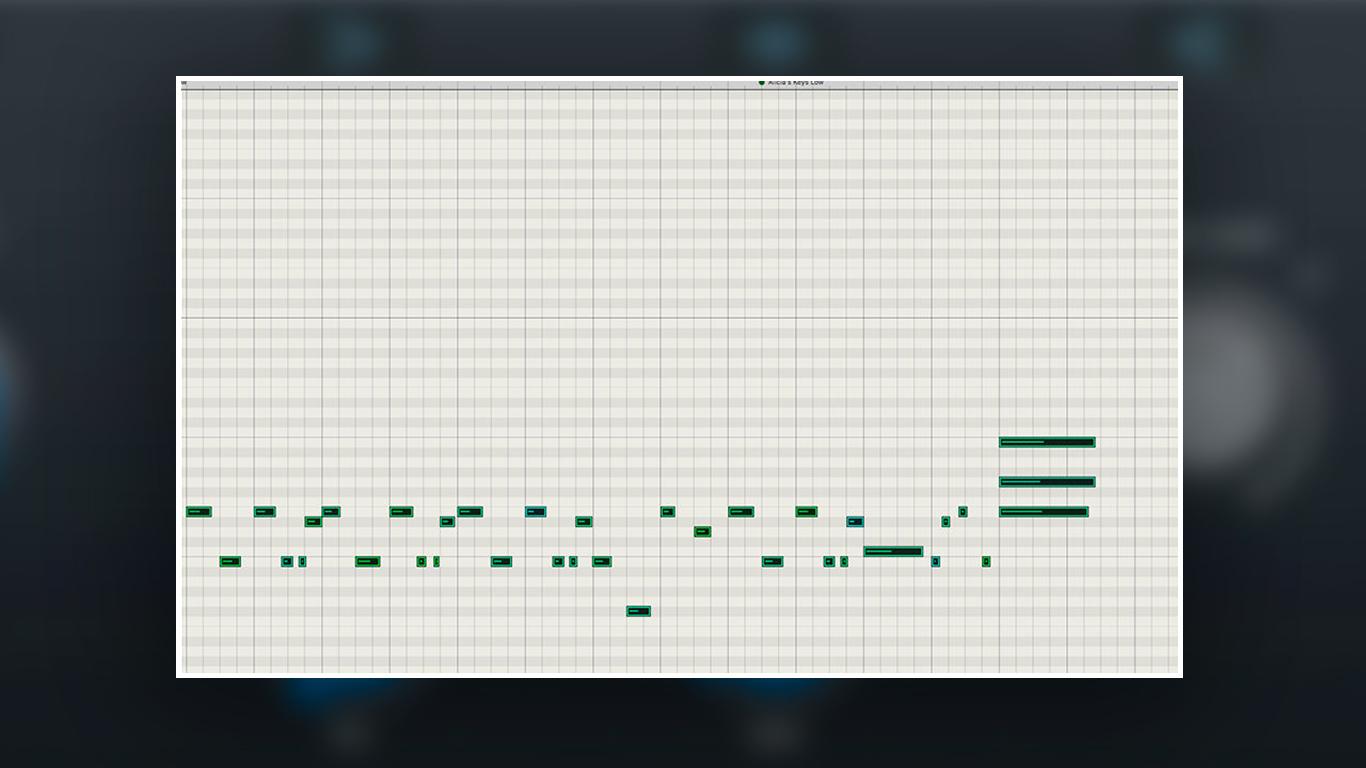 Программирование клавишных в MIDI нижний регистр
