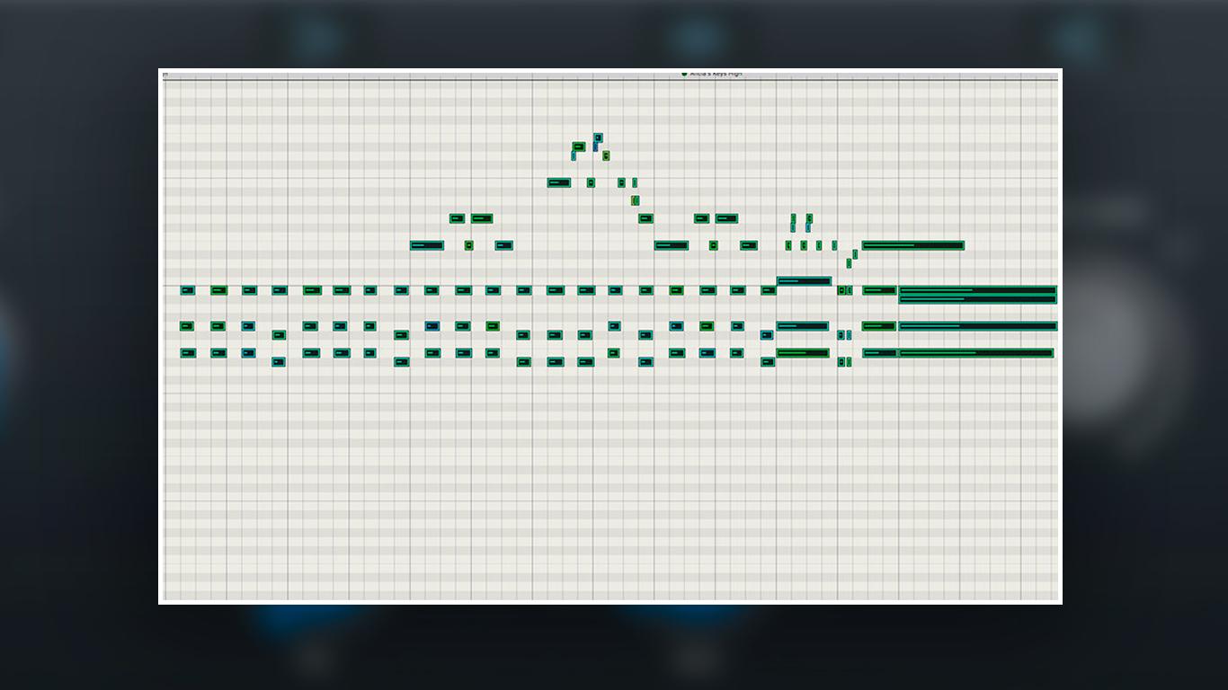 Программирование клавишных в MIDI верхний регистр